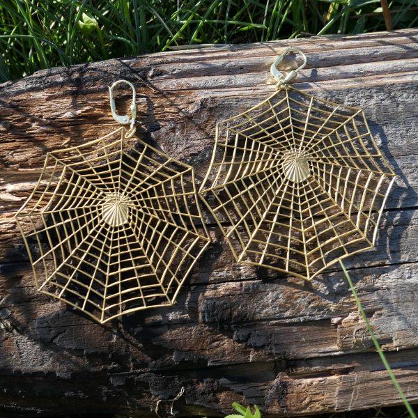 Spinnennetz Ohrring 4