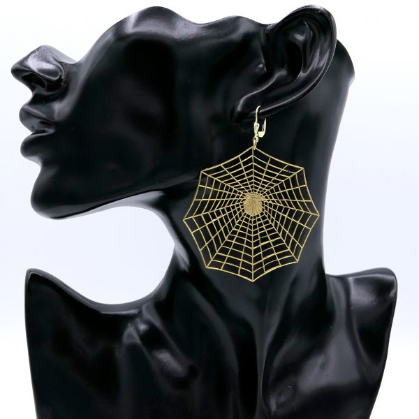 Spinnennetz Ohrring 1