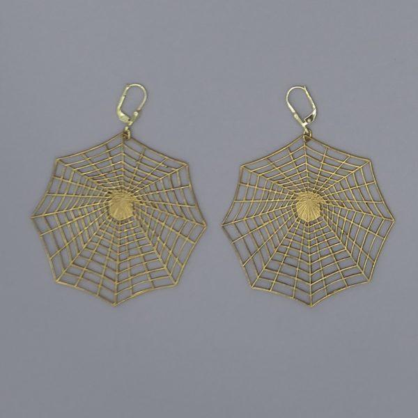 Spinnennetz Ohrring 2