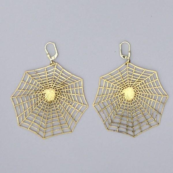 Spinnennetz Ohrring 3