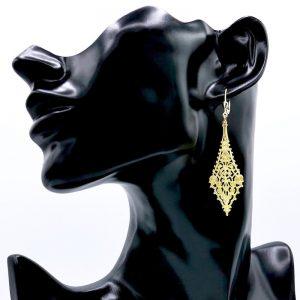 ziselierter Drachenohrhänger vergoldet 1